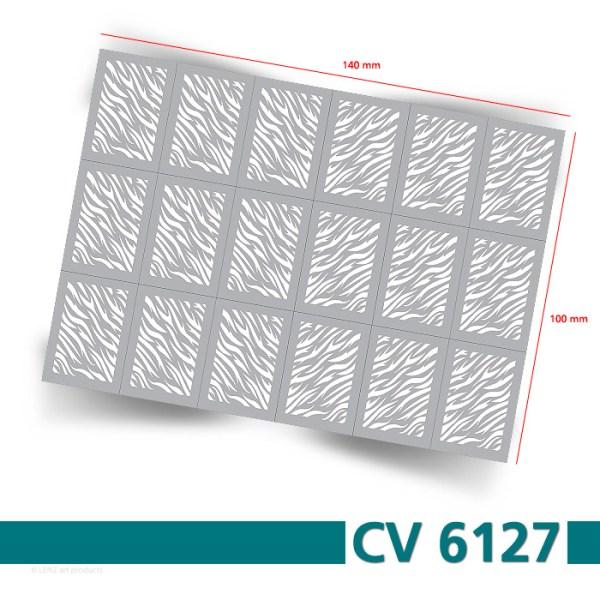 CV6127 Klebeschablonen