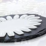Präsentier-Rondell (naturweiss, oval)