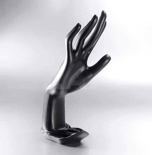 Deko-Schmuckhand, 23 cm, schwarz