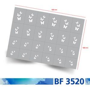 Klebeschablone Airbrushnails BF3520 Übersicht