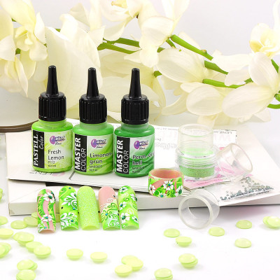 Airbrush Nails Creative Set 2020 Green Session