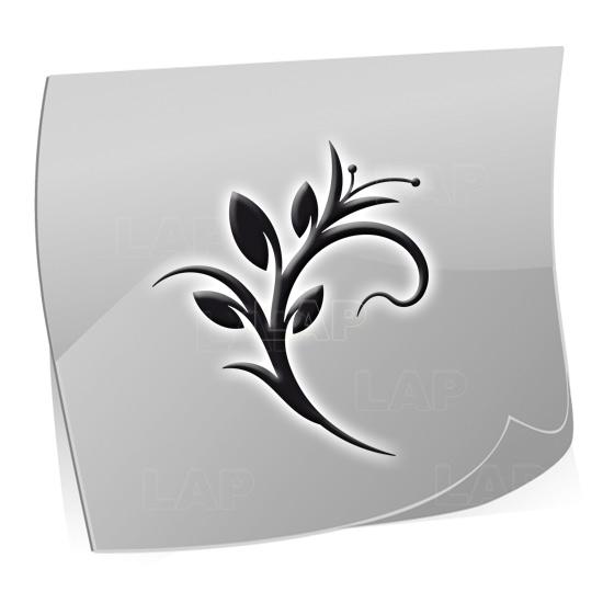 Nailart Airbrush Klebeschablonen Blätter-BL4209