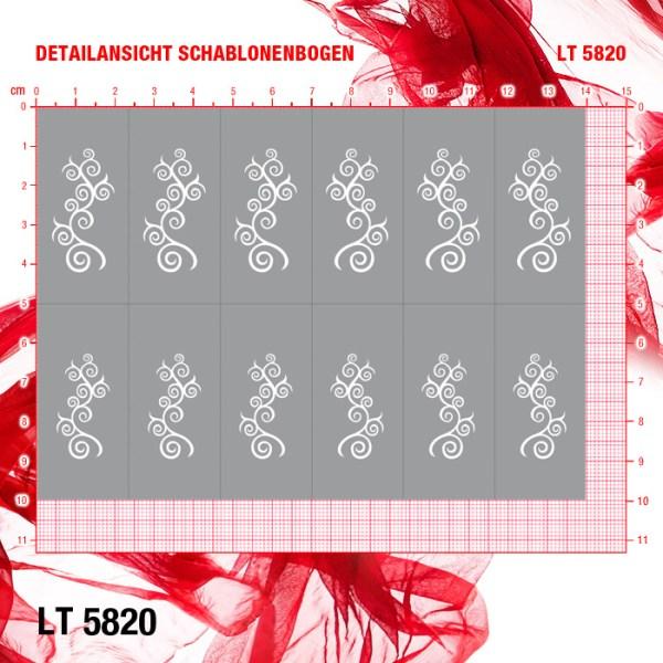Airbrush Schablone klebend LT5820