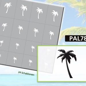 Klebeschablonen PAL7872, Nailart Airbrush Schablonen Palmen, Sommer, Strand