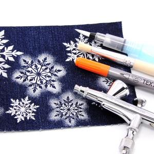 Schablonen für Stoffmalerei, Holz, Kunststoff und mehr, Schneeflocke 01