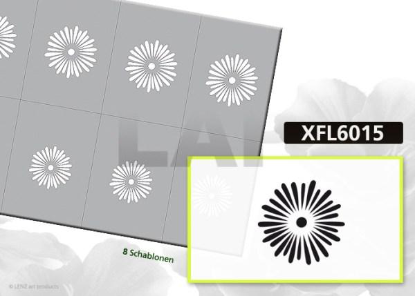 Nailart Airbrush Klebeschablonen XXL Blumen XFL6015, Schmuck-Klebeschablonen,