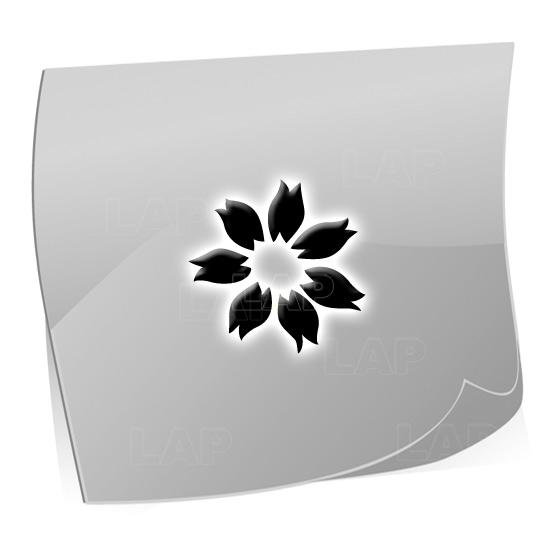 24 Mini Nailart Airbrush Klebeschablonen Blume BL4322, selbstklebend, Airbrushnailart