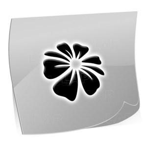 24 Mini Nailart Airbrush Klebeschablonen Blume BL4392, selbstklebend, Airbrushnailart