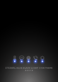 ETERNAL BLUE BLACK LIGHT ICON THEME