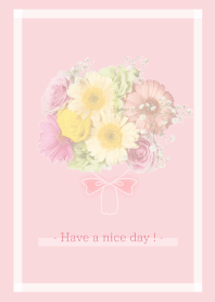 Flowers and hearts -Pink- 6