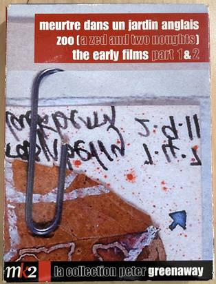 Coffret Peter Greenaway - 4 DVD