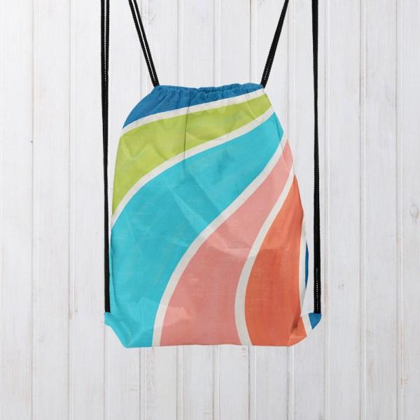 Hanging Fruity Swirl Drawstring Bag