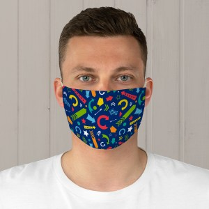 Colorful Scattered Arrows Fabric Face Mask