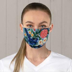Blue Fairy Wren Fabric Face Mask
