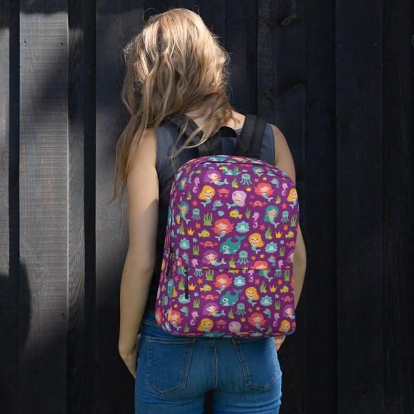 Purple Mermaid Friends Backpack