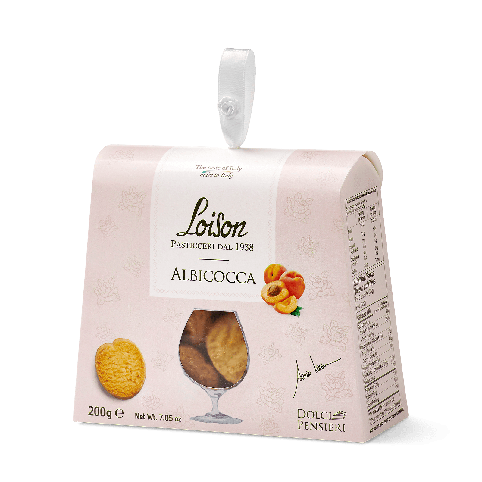 Biscuits abricot coffret gourmand 200 gr