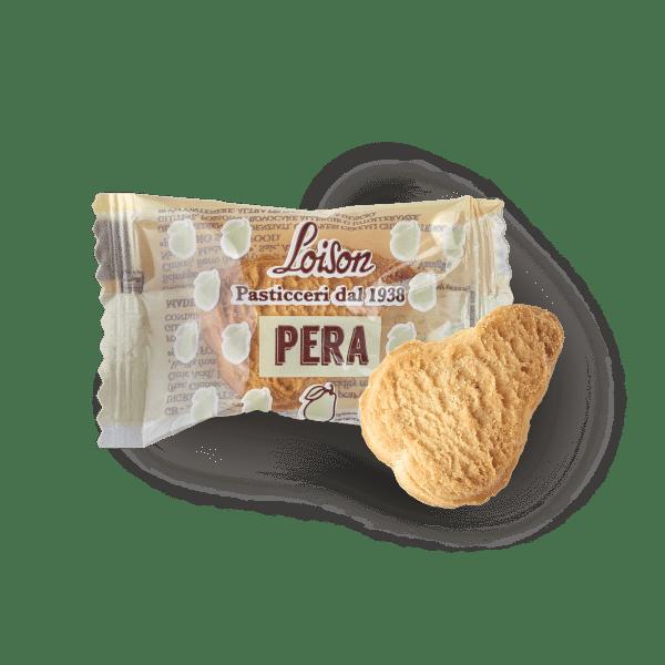 Biscotti pera monoporzione confezionati singolarmente