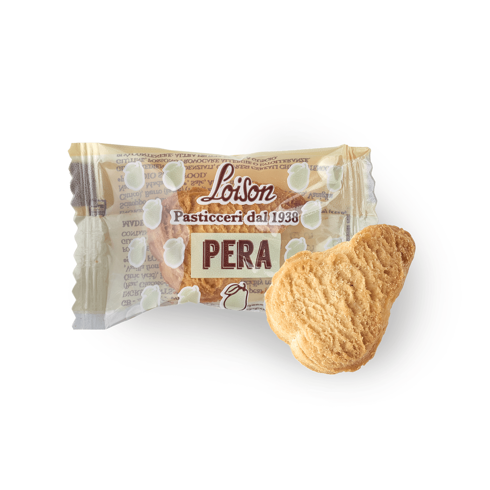 Pear Biscuits individually wrapped - Loison