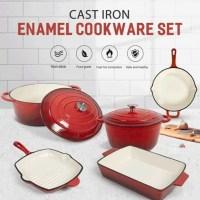 Cast Iron Enameled Cookware Set