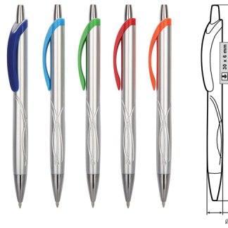 Пластмасова химикалка с формички и клипс