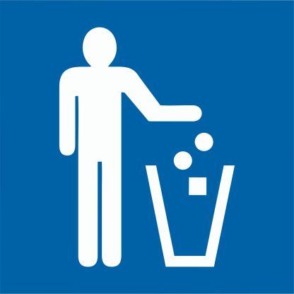 Стикер Място за отпадъци 15х15 см.