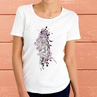 Самурай и цветя - Дамска тениска