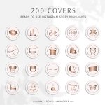 Rose Gold Glitter Instagram Covers Macarons And Mimosas