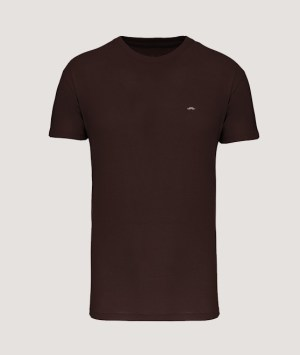 T-shirt BIO150 col rond homme - Chocolate