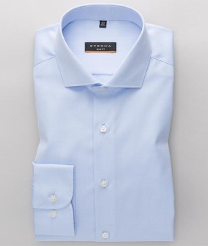 Chemises Eterna - Bleu ciel - Slim Fit