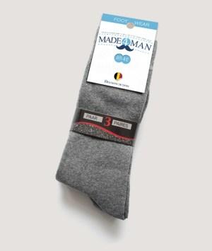 Chaussettes gris moyen uni