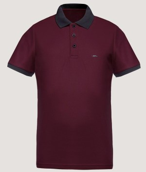 Polo maille piquée Cool Plus - Wine/Grey