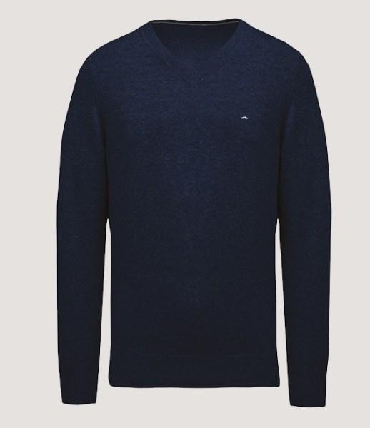 Pullover premium col V - Navy