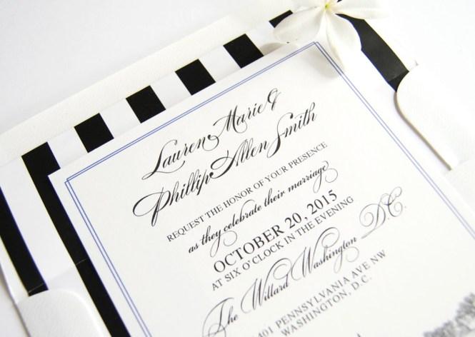 Washington Dc Skyline Wedding Invitations
