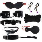 Bondage-Restraints-Set-8pcs-Furry-Handcuffs-Bondage