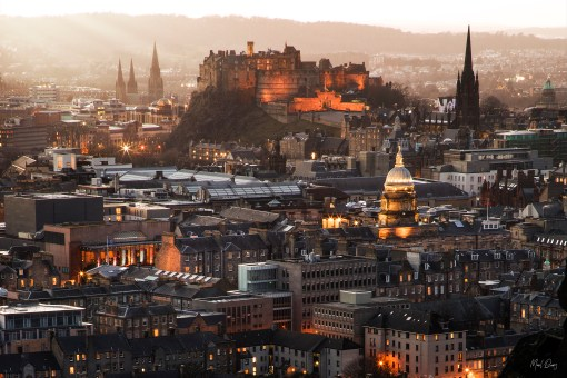 Edinburgh Castle at Sunset | Manel Quiros Photography