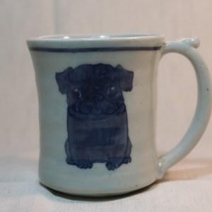 マグカップ 黒パグ