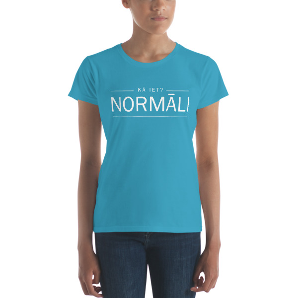 Normāli. Latvian vibes Women's short sleeve t-shirt