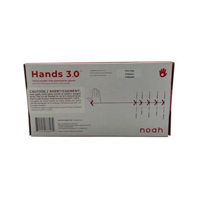HANDS 3.0 NITRILE EXAM GLOVES BOX BACK