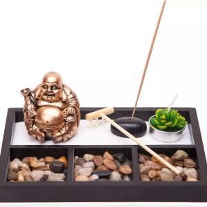 Desktop Zen Garden with Buddha & Incense-0