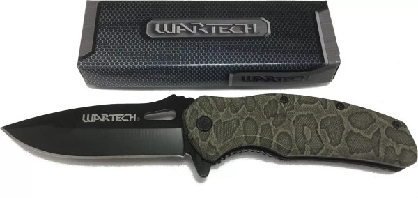 Wartech Camo spring assisted folding knife-0