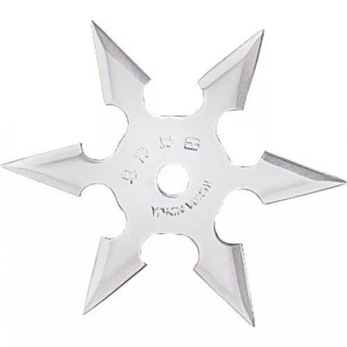 6-point Throwing Star, Stainless-0