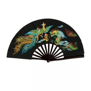 Fighting Fan, Bamboo, Choice of Colors-0