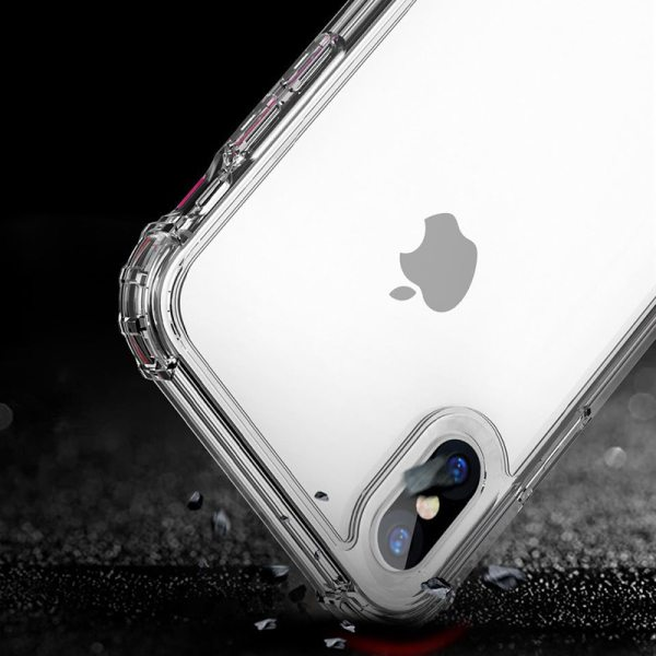 iPhone X XS XR XS Max 8 7 6 6S Plus Luxury Shockproof Bumper Transparent Silicone Phone Case