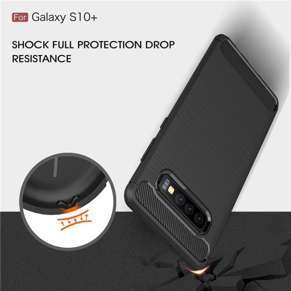 Samsung Galaxy S10 S10 Plus S10 Lite Shockproof Carbon Fiber Soft Silicone Protective Case Bumper
