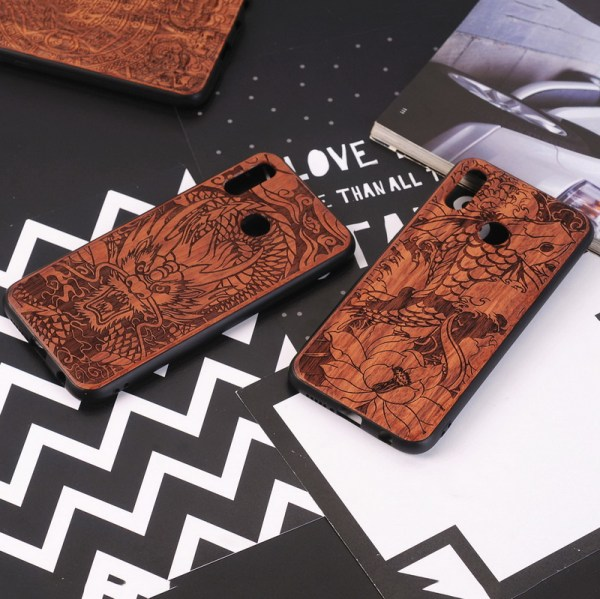 Huawei P20 Lite,P20,P20 Pro Case Slim Wood Back Cover TPU Bumper Case