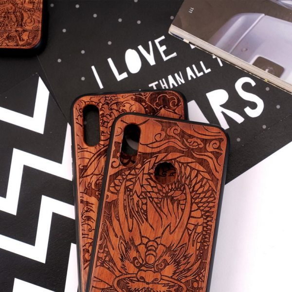 Huawei P20 Lite,P20,P20 Pro Case Slim Wood Back Cover TPU Bumper Case