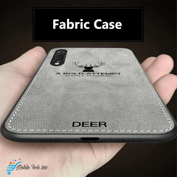 Xiaomi Mi 9,9 SE Classic Fabric Case Soft Silicone Frame Back Cover