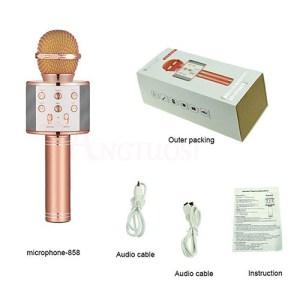 Bluetooth Wireless Microphone WS-858 Handheld Karaoke Mic USB