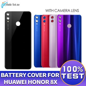 Huawei Honor 8X Back Glass Battery Housing Cover With Camera Lens