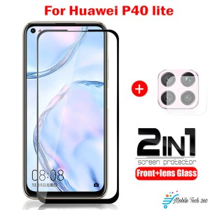 2 in 1 Screen Protector Glass+Back Camera Lens For Huawei P40 Lite